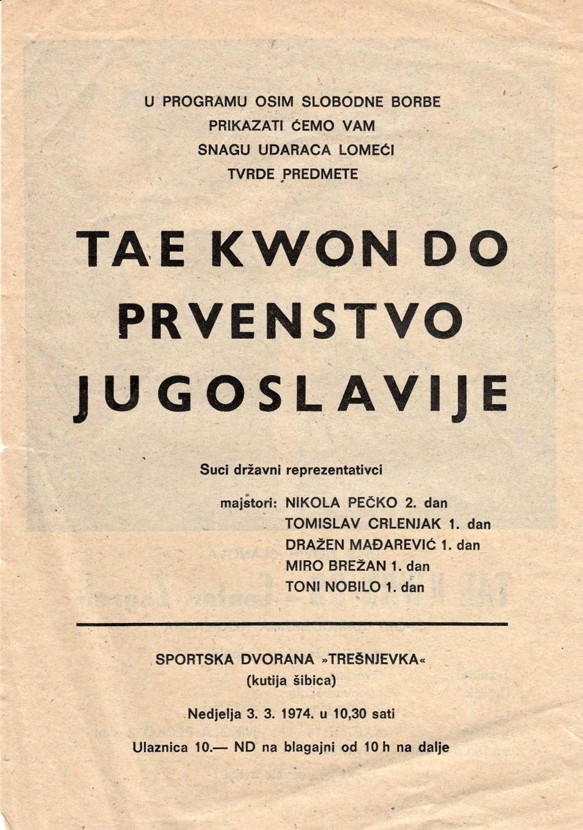 Taekwondo prvenstvo Jugoslavije