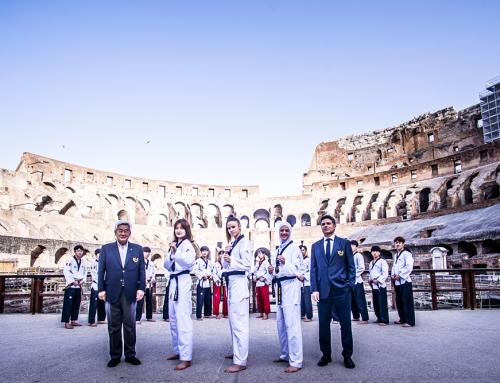 Roma 2019 WT GP Medalists at Colosseum on June 9